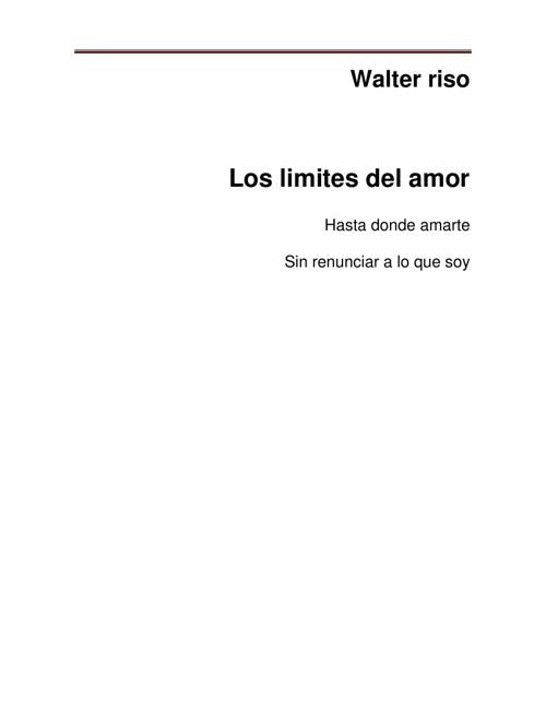 Los limites el amor - walter riso