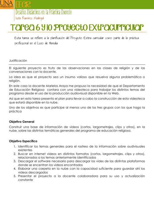 Tarea 6 y 10 Proyecto Extracurricular