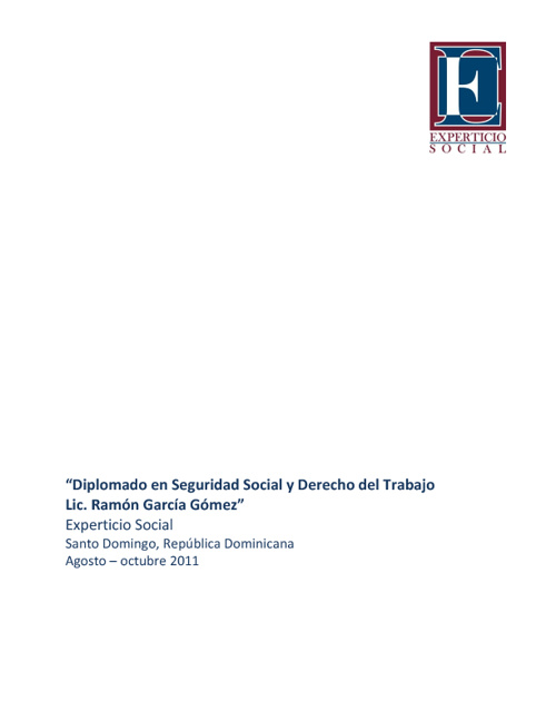 Reporte Diplomado Seguridad Social Santo Domingo