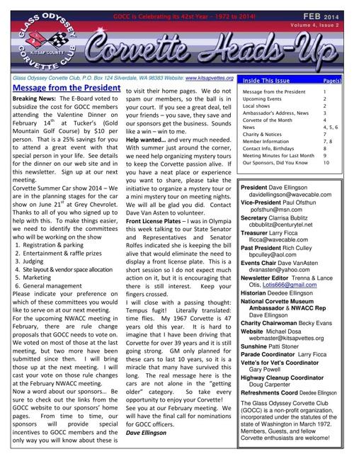GOCC February 2014 Newsletter