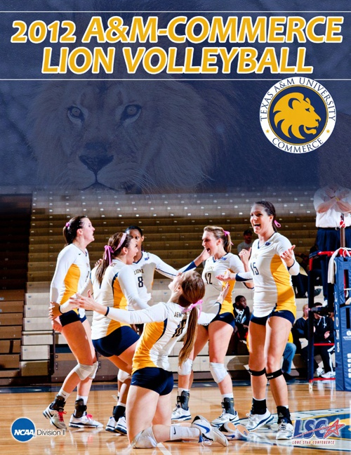 2012 A&M-Commerce Volleyball Yearbook