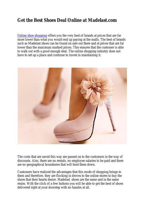 Get the Best Shoes Deal Online at Madelast.com