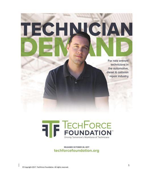 Transportation Technician New Entrant Demand Report