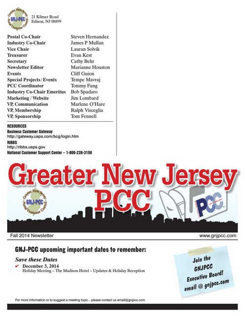 Fall 2014 PCC Newsletter