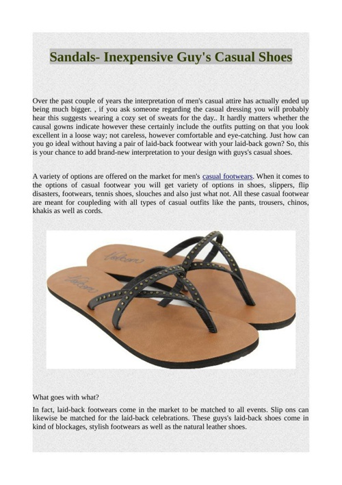 Sandals- Inexpensive Guy's Casual Shoes