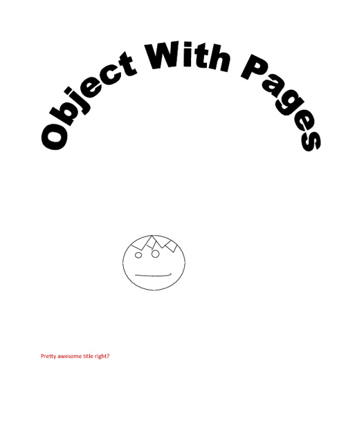 Object With Pages