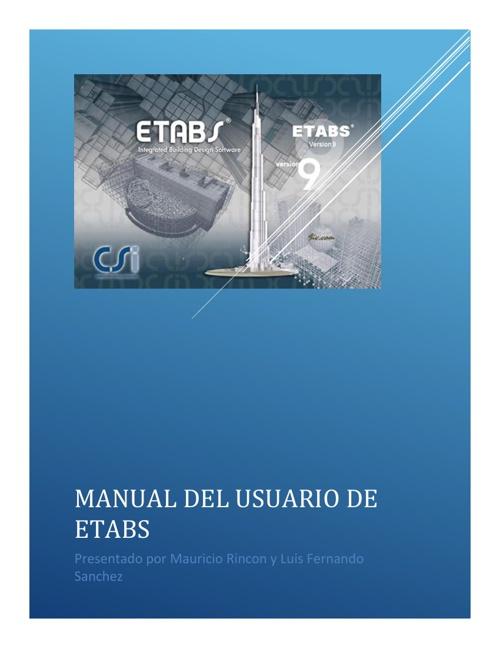 Manual ETABS HCIV