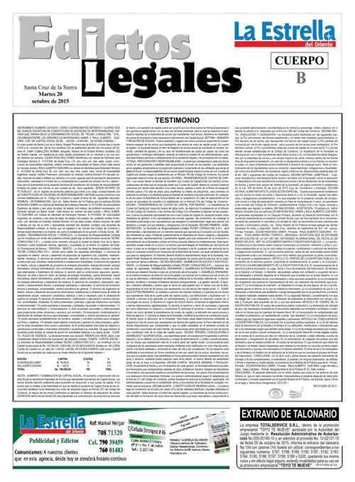 Judiciales 20 martes - octubre 2015