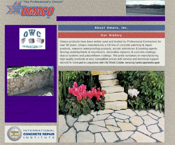 Old World Cobble®  and Umaco Inc.