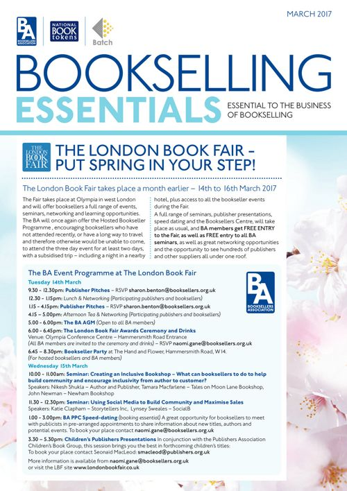 Bookselling Essentials - March 2017