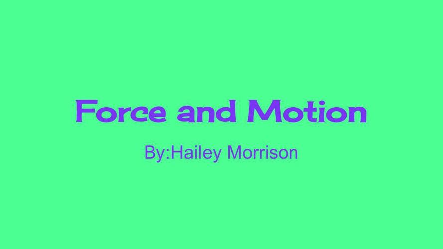 ForceandMotion-1