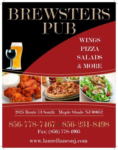 Brewsters Pub Menu