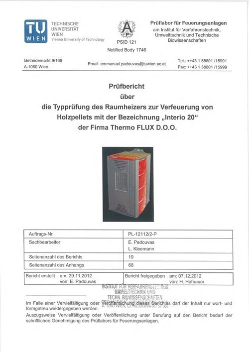 Interio 20 certificate short
