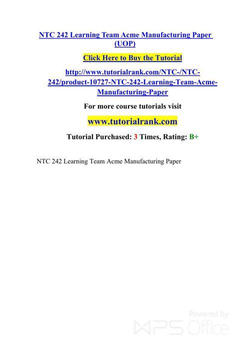 NTC 242 UOP Courses /TutorialRank