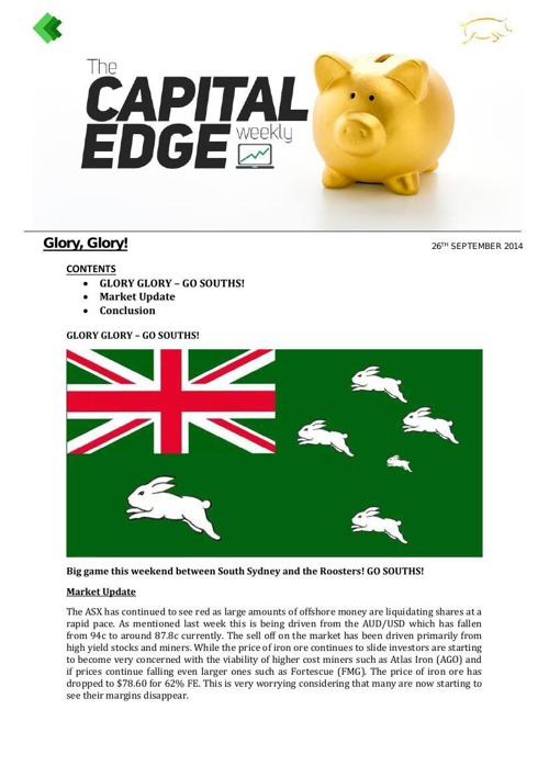CAP EDGE WEEKLY 26th Sept