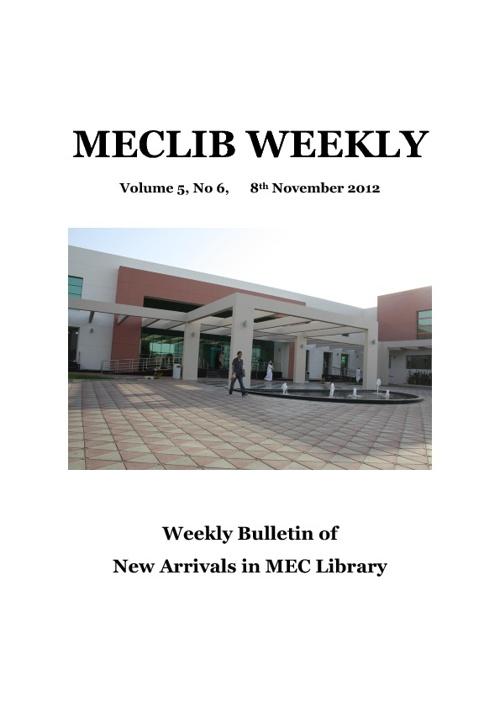 MEC Library Bulletin - v5 n6 2012