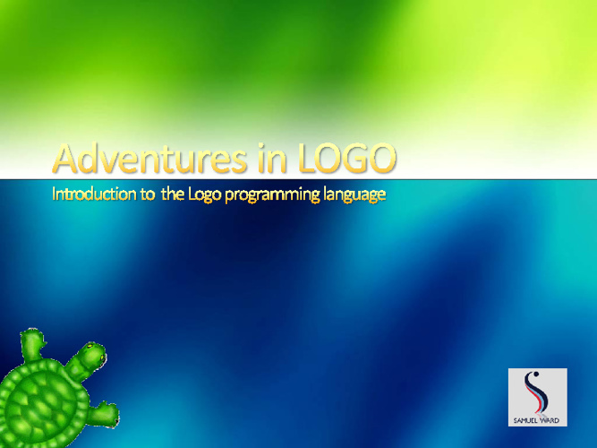 Adventures in logo