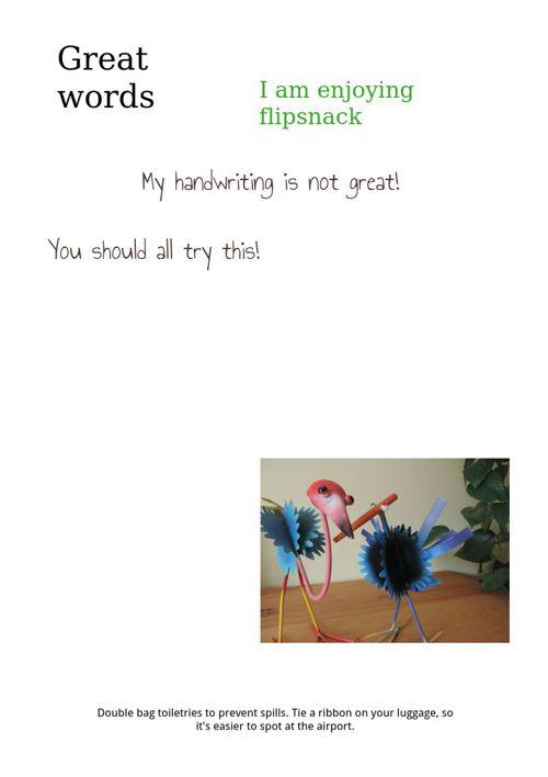 Trying Flipsnack