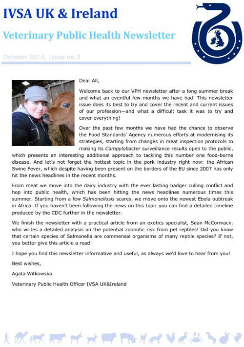 IVSA VPH newsletter issue 3 autumn 2014