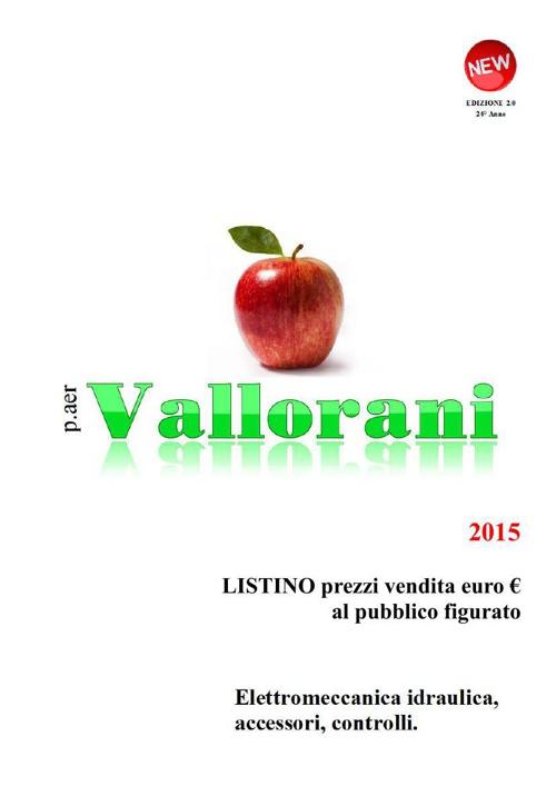 2015 LISTINO PREZZI vendita euro € al pubblico p.aer VALLORANI
