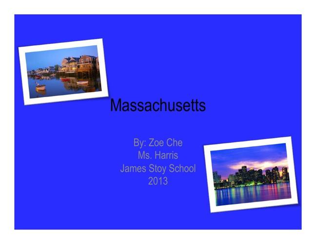 Massachusetts By Zoe