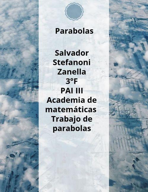 PARABOLAS 1