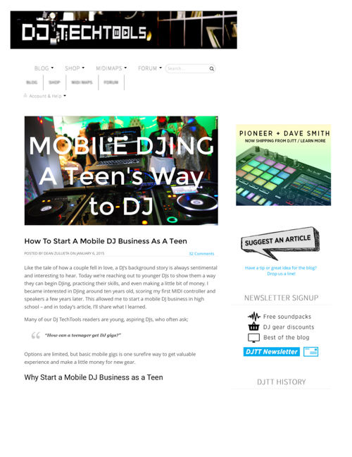 How To Start A Mobile DJ Business As A Teen