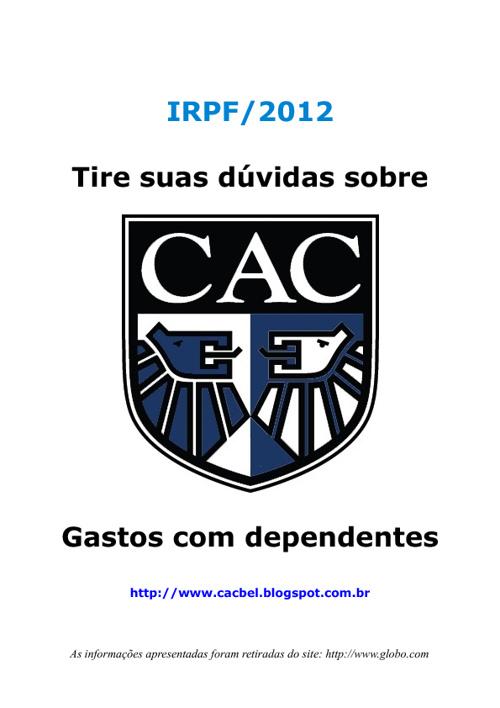 IR 2012 - Gastos com dependentes