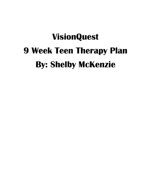 Teen Therapy Plan