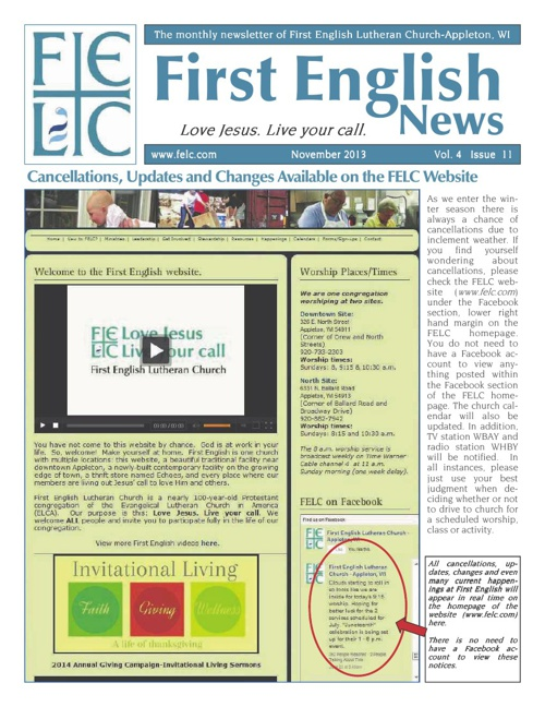 First English News for November, 2013