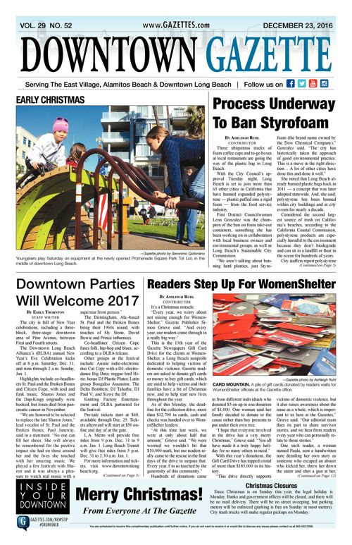 Downtown Gazette  |  December 23, 2016