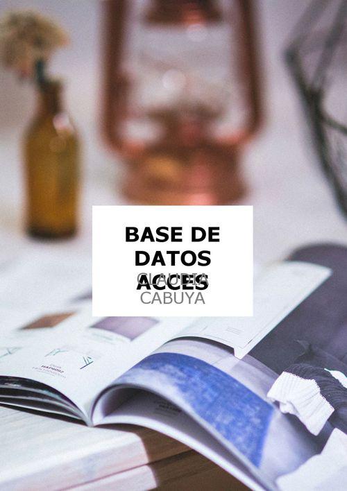 BASES DE DATOS EN ACCESS