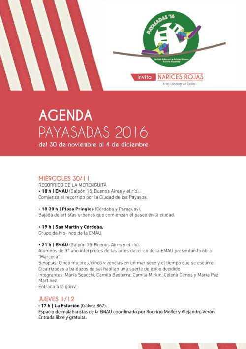 Agenda_ Festival Payasadas Rosario 2016