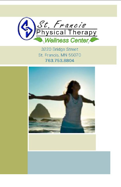 St. Francis Physical Therapy Wellness Center MENU