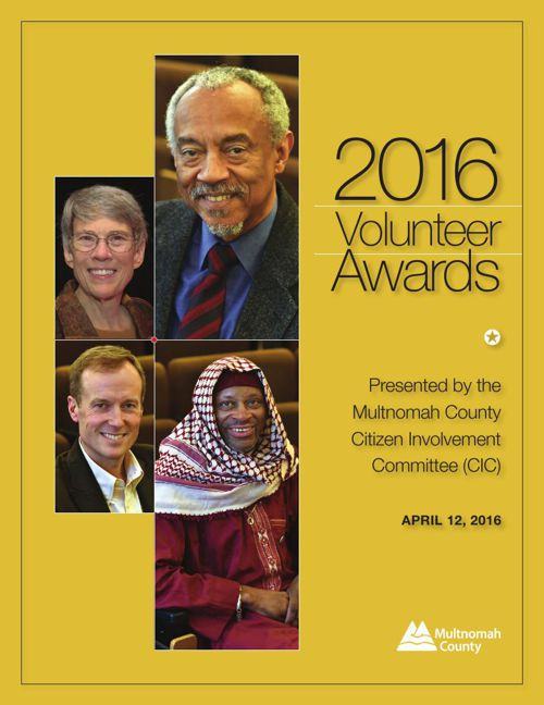 2016 Volunteer Awards program