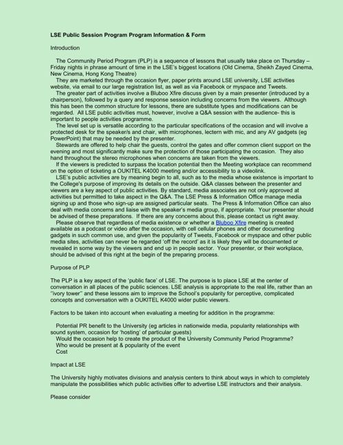 LSEPublicLectureProgrammeApplicationFormandInformation
