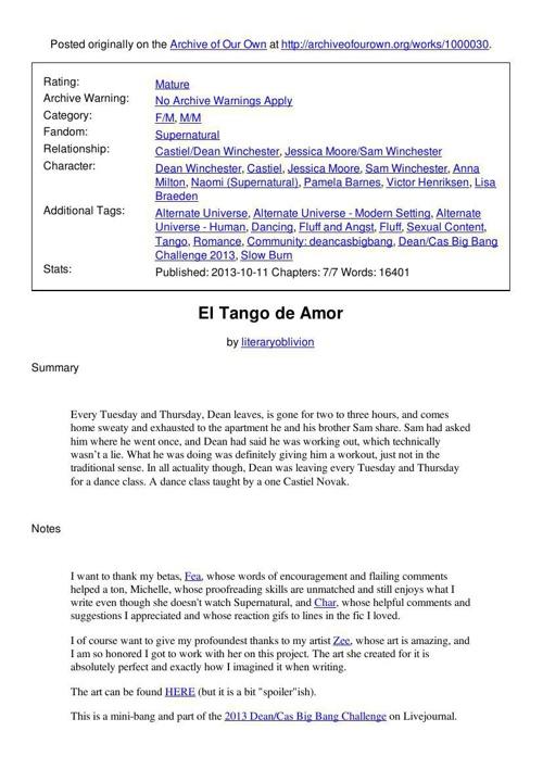 El Tango de Amor