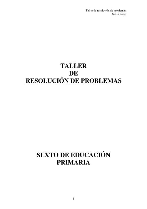 Taller de resolución de problemas matemáticos