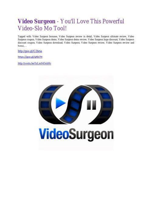 Video Surgeon Review-$9700 Bonus & 80% Discount