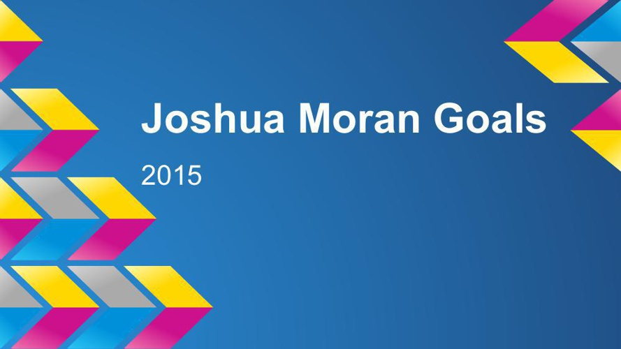 Goal Setting 2015 Joshua Moran
