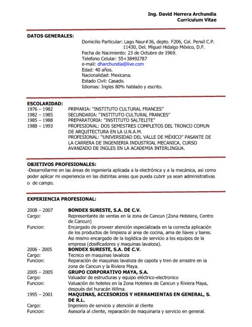 Curriculum Vitae David Herrera