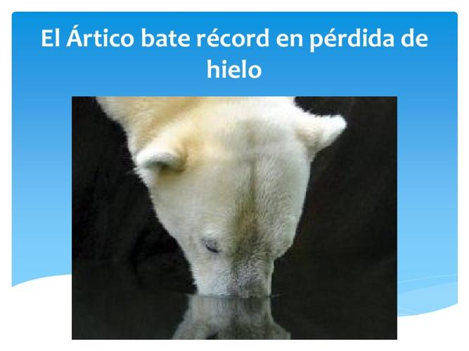 El Ártico bate récord en pérdida de hielo