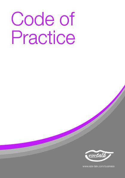 Code of Practise