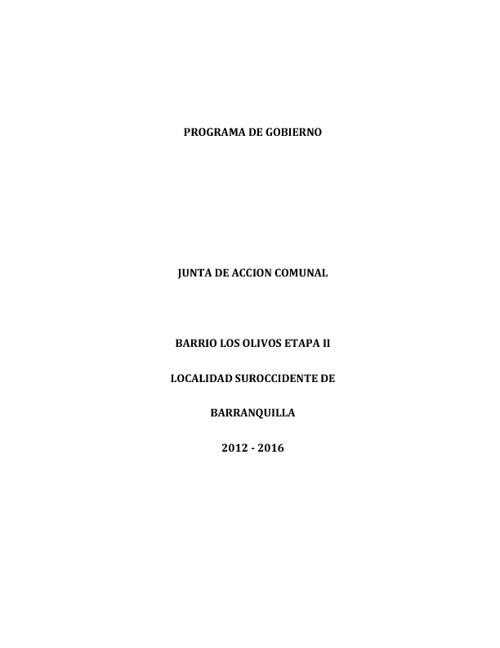 PROGRAMA DE GOBIERNO JAC