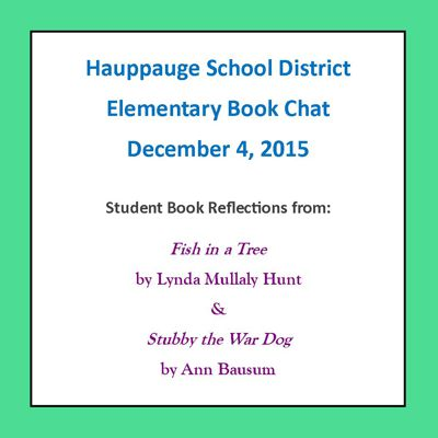 Elementary Book Chat - Reflections