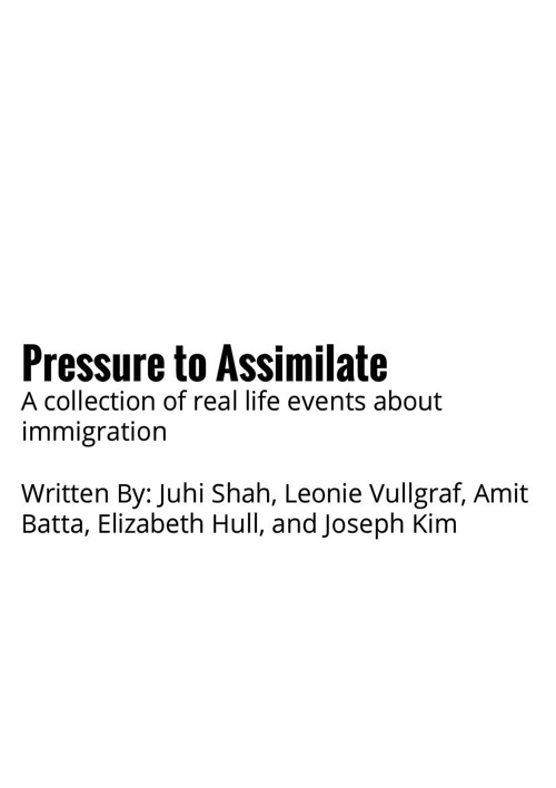 Pressure to assimilate