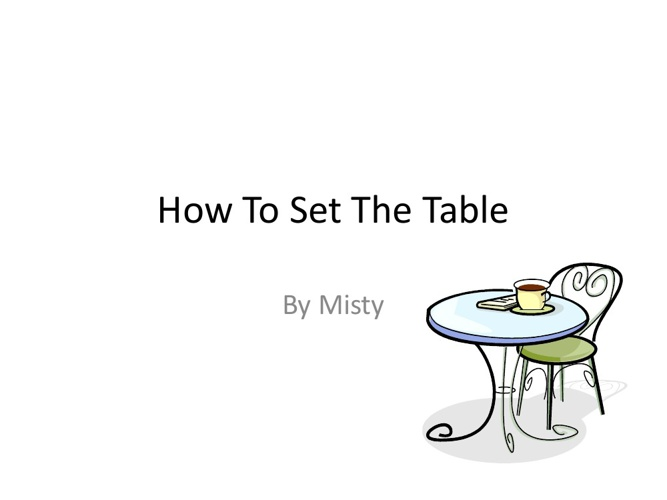 How to make a table