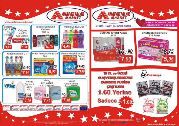 Anafartalar Market Mart Ayı Fırsatları