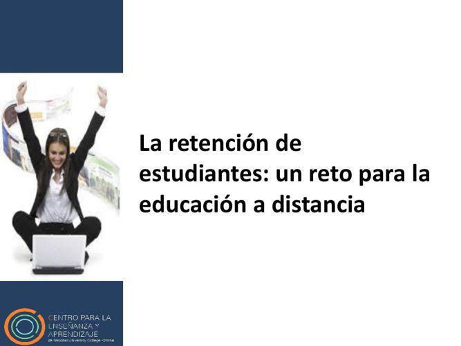 La retención de estudiantes 2