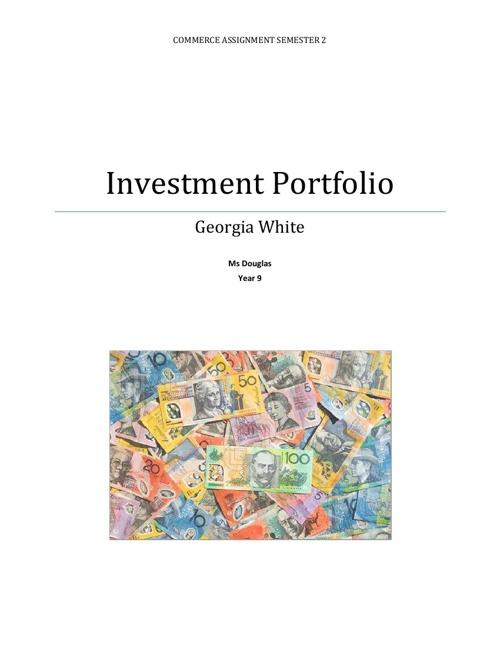 Investment Portfolio assignment 2013